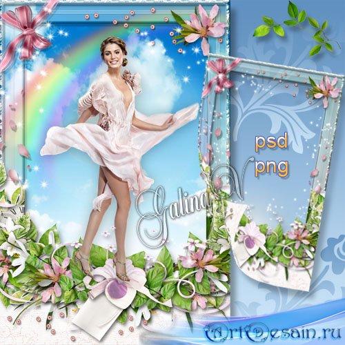 Цветочная фоторамка - Как сказочная фея