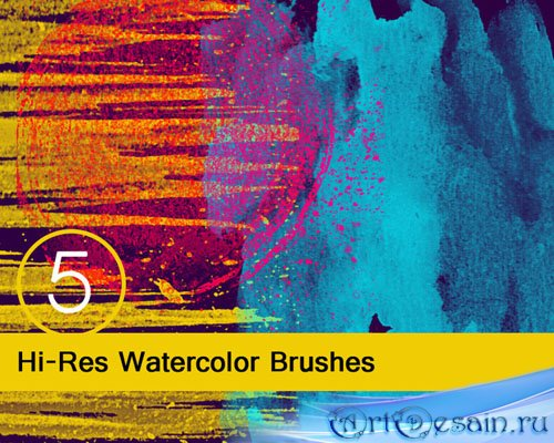 Hi-Res Watercolor Brushes for Photoshop