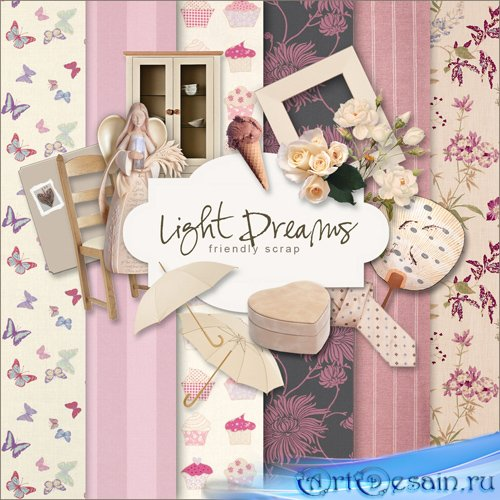 Scrap-set - Light Dreams