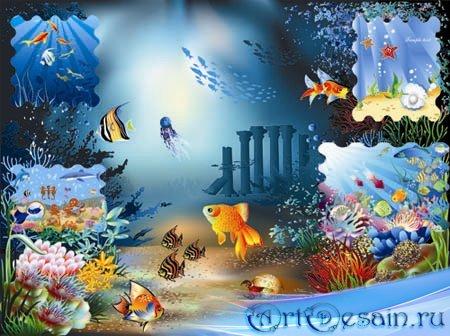 Векторные фоны - Подводный мир / Underwater World