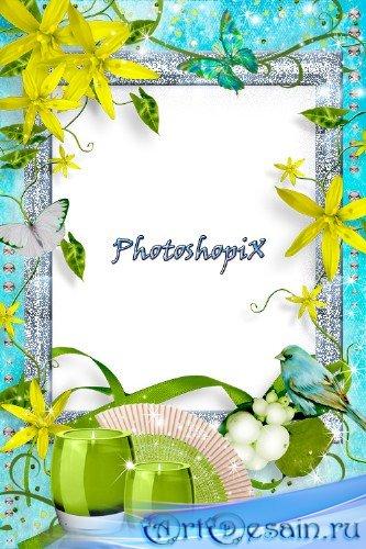 Романтическая рамка для Photoshop – Жить мечтами о любви