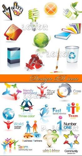 Design 3D icon