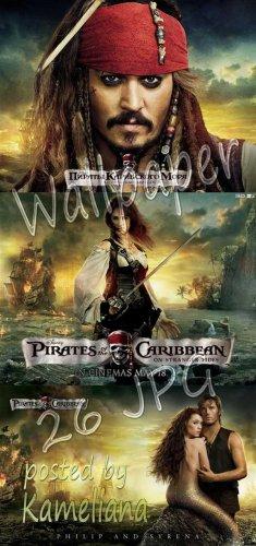 Обои (постеры) на рабочий стол - Пираты Карибского моря 4