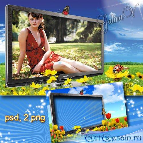 Летняя рамка - Фото в телевизоре