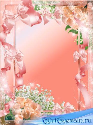Рамка для фото - Ландыши и розы