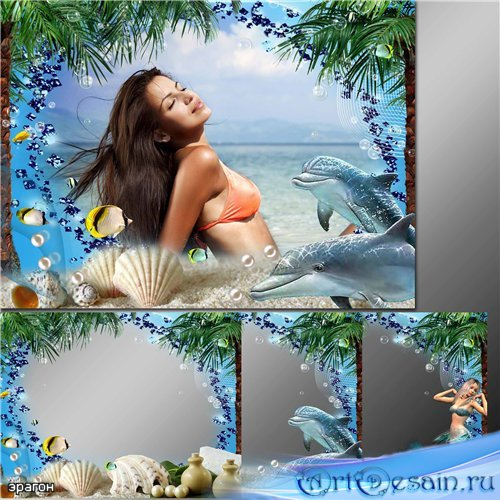 Морские рамки для фотошопа – Мелодия моря