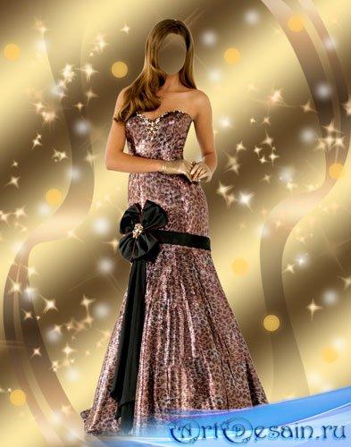 Шаблон женский - Леди в вечернем платье