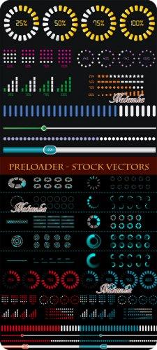 Preloader Elements - Stock Vector