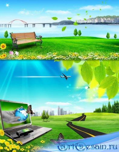 PSD исходники - Высококачественные пейзажные фоны (Часть 4)