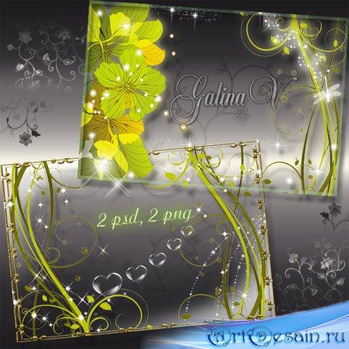 Рамки для фото - Романтические цветочные завитки