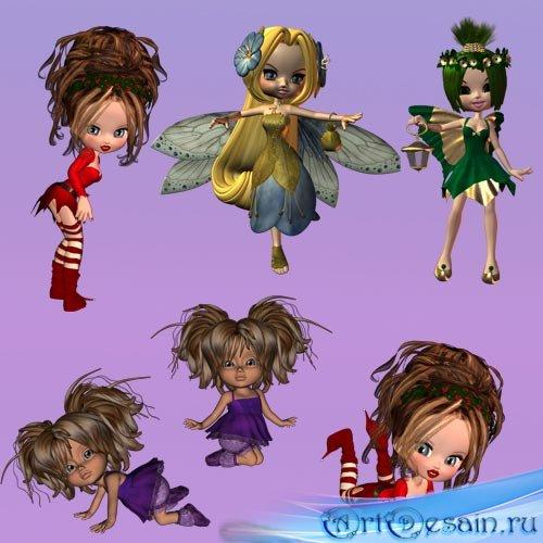 Клип арт для Фотошопа  Куколки