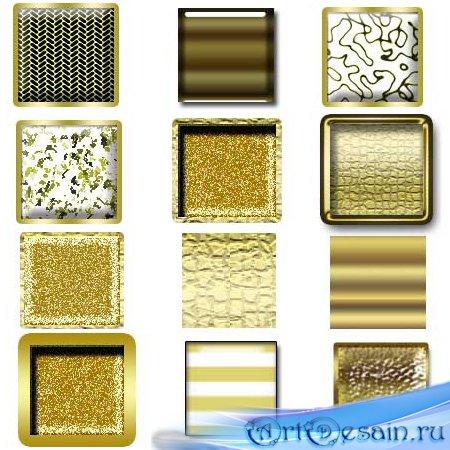 Золотые (Gold) стили для фотошопа