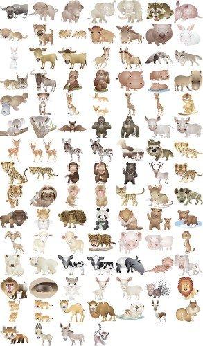 Сборник векторных клипартов - Забавные животные