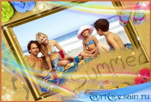Фоторамка - Летом босиком