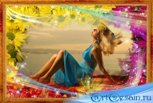 Фоторамка - Аромат и красота цветов