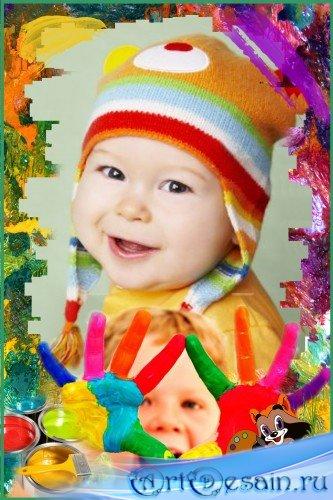 Детская фоторамка - Буду художником