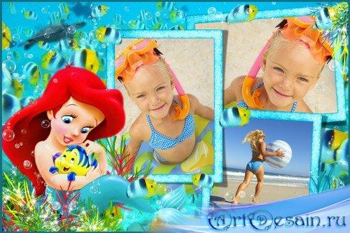Детская фоторамка - Маленькая русалочка