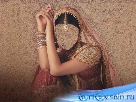 Женский шаблон - Идийская красавица