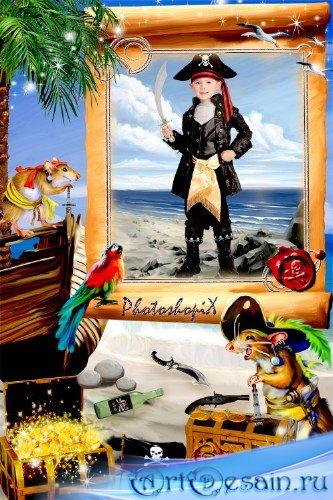 Детская рамка для Photoshop – Маленькие кладоискатели
