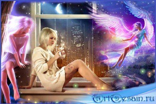 Фоторамка - Её ангел-Хранитель