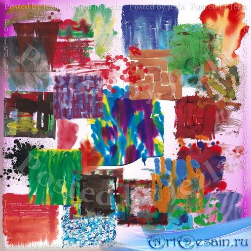 PSD Исходники - Акварельные Кляксы, Штрихи и Мазки (Watercolor Paint)