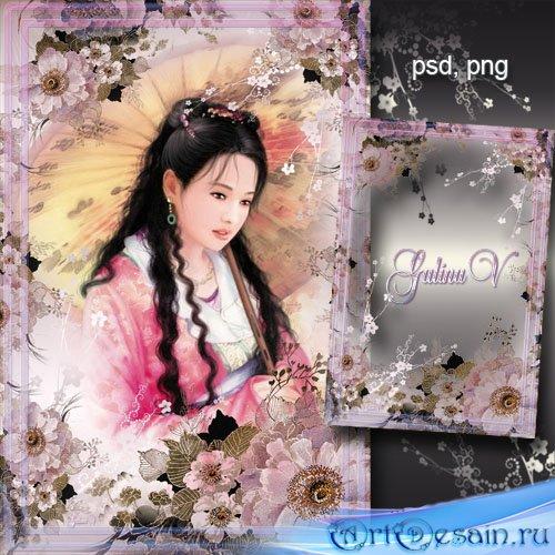 Цветочная рамка - Китайская мелодия