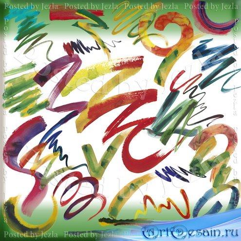 PSD Исходники - Акварельные Штрихи (Watercolor Strokes)