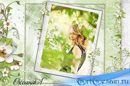 Рамка для фотошоп – Весна прекрасна
