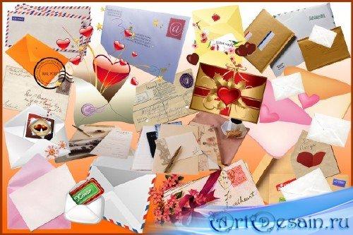 Клипарт - Письма, конверты