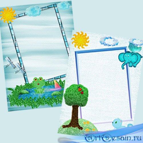 Детские рамки для Фотошоп - Волшебная страна