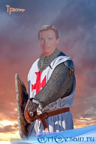 Шаблон мужской  – Рыцарь Тамплиер