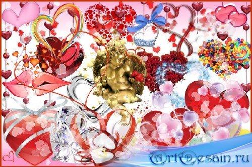 Клипарт - Симпатичные сердечки