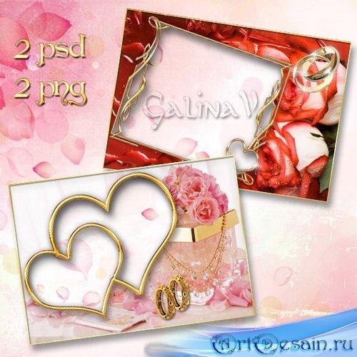Свадебные фоторамки - Розы для любящих сердец