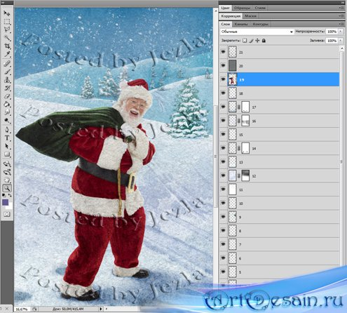 PSD Исходники - Санта Клаус - Дед мороз (Santa)