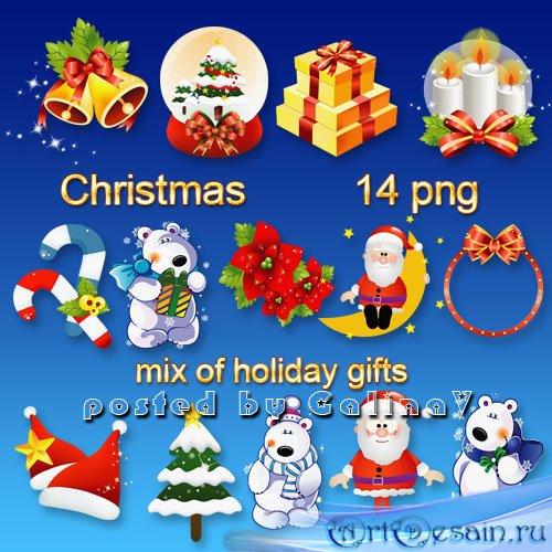 Клипарт PNG Рождественский праздник