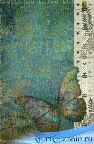 PSD Исходники - Бабочка (Butterfly)
