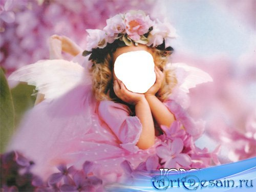 Шаблон девочка в розовом