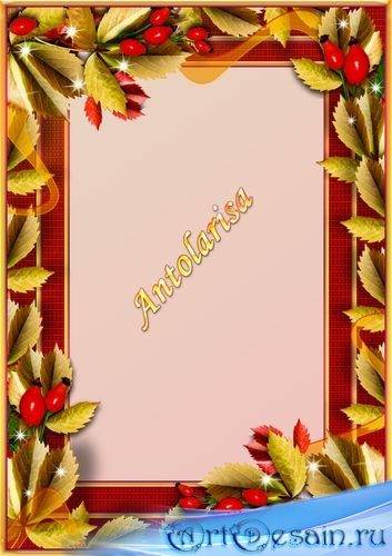 Рамка для фото - Осенняя пора