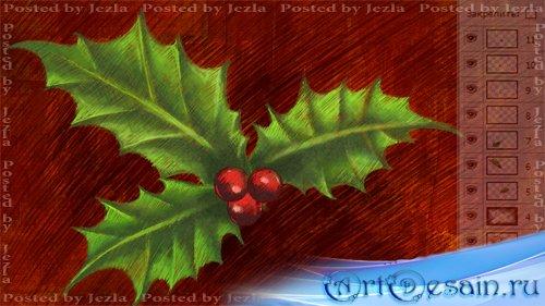 PSD Исходники - Рождественский Остролист (Holly)