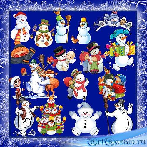 Клипарт – Снеговики 16