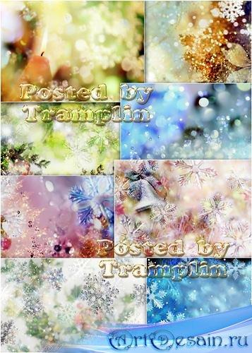 Блестящие Новогодние фоны  - Brilliant New year's backgrounds