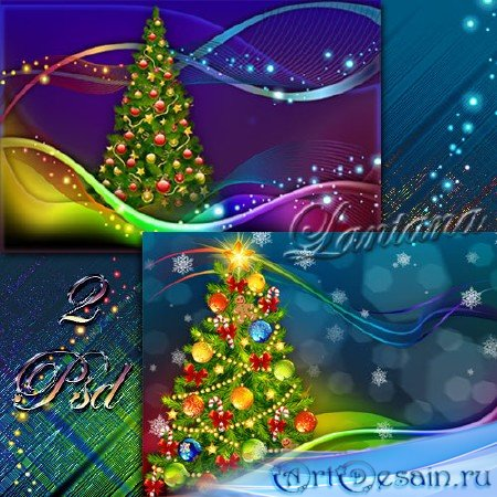 PSD исходники - Новогодняя мишура  № 5