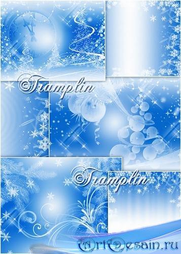 Новогодние Фоны  - Backgrounds new years -  Летают снежинки, почти невидимк ...