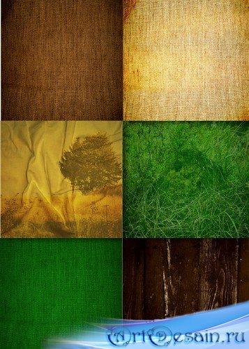 Растровый клипарт - Древесно-зеленые фоны