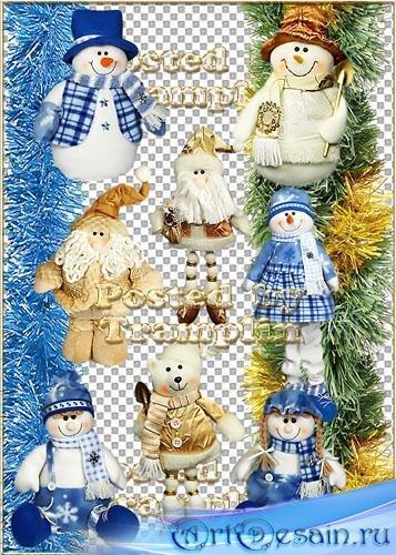 Новогодний клипарт – Мягкие игрушки на елку