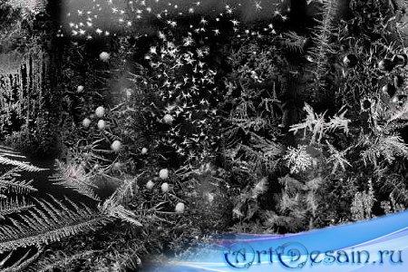 Кисти для фотошопа - Морозные узоры