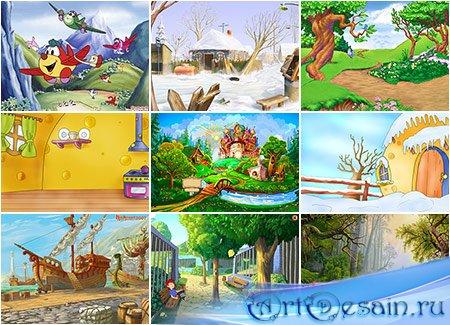 Разные детские фоны для фотошопа