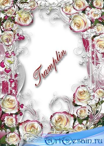 Рамка для Ваших фото – Розы перламутр