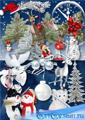 Рождественский скрап-набор