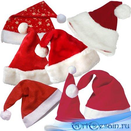 Клипарт - Колпаки Санта Клауса